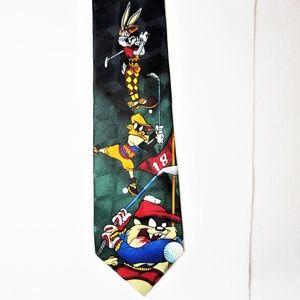 Bugs Bunny Daffy Duck Tasmanian Devil Golfing Tie